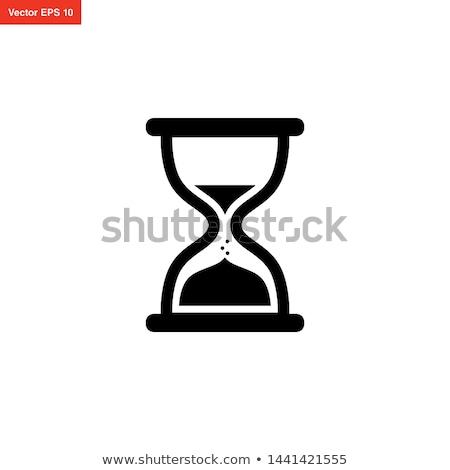 Kum saati ikon tasarım şablonu vektör grafik tasarım şablon Stok fotoğraf © haris99