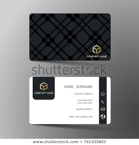 abstract geometric business card design template Stock photo © SArts