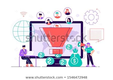 Generating new leads concept vector illustration Stock photo © RAStudio