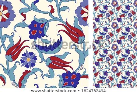 Abstract textiel keramiek vector Blauw Stockfoto © TRIKONA