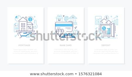 Banking operation - line design style icons set Stock photo © Decorwithme