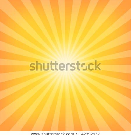 Soleil été jaune orange brillant poutre Photo stock © kyryloff