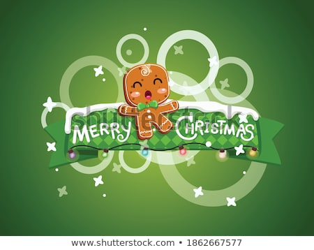 Gingerbread man 3D Stock photo © djmilic