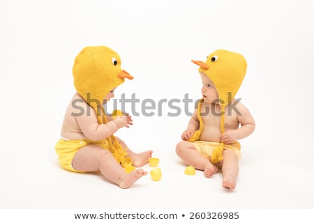 Isolated boy dressed as a chicken Stock photo © Imaagio