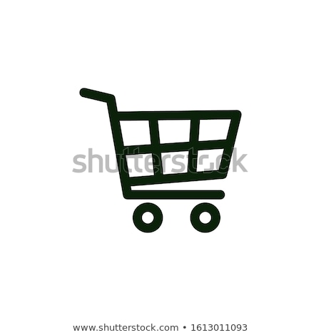 Customer Shopping Cart Icon Vector Outline Illustration Stock photo © pikepicture