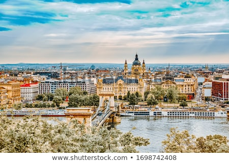 Budapest Danube river waterfront panoramic view Stock photo © xbrchx