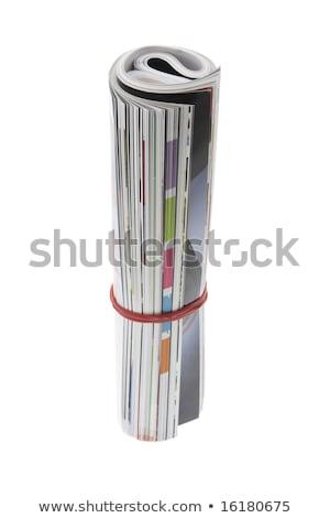 W górę czasopisma działalności wydruku kolor Zdjęcia stock © nomadsoul1