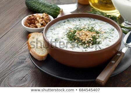 伝統的な · 冷たい · 夏 · スープ · ランチ · 新鮮な - ストックフォト © joannawnuk