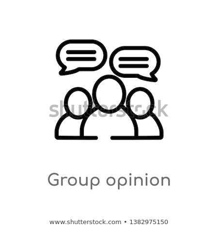 general group opinion icon vector outline illustration Stock photo © pikepicture