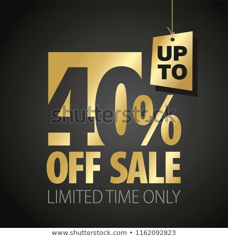 Super Sale 40 Percent Off Price Promotional Banner Stock photo © robuart