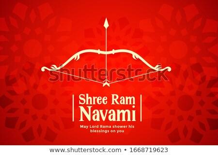 shree ram navami red bow and arrow background Stock photo © SArts