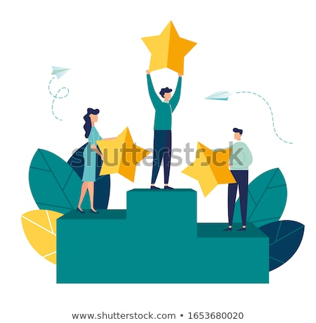 Vector Illustration of Successful businessman in the air Stock photo © ShustrikS