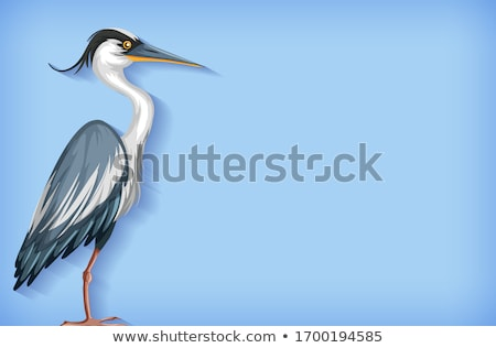 Background template with plain color and heron Stock photo © bluering