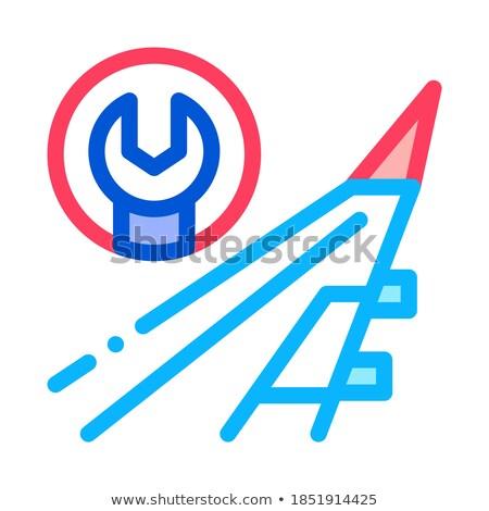 Aeronave chave inglesa ícone vetor ilustração Foto stock © pikepicture