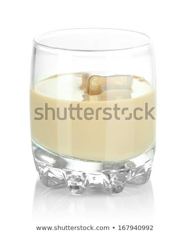 üveg ír krém likőr jég bab Stock fotó © DenisMArt
