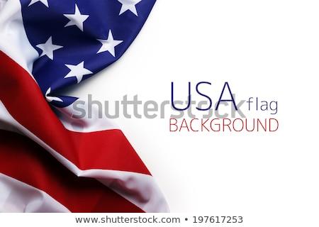 Mavi bayrak beyaz sanat imzalamak Stok fotoğraf © butenkow