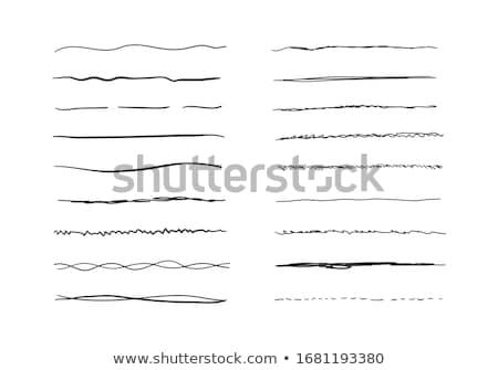 Dibujado a mano cepillo patrón líneas curvas Foto stock © natali_brill