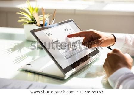 Cyfrowe rachunek rachunkowości audytu finansów oprogramowania Zdjęcia stock © AndreyPopov