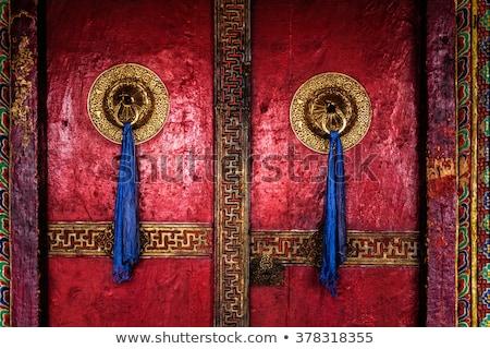 Door of Spituk monastery. Ladakh, India Stock photo © dmitry_rukhlenko