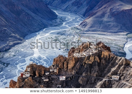 Dhankar monastry perched on a cliff in Himalayas, India Stock photo © dmitry_rukhlenko
