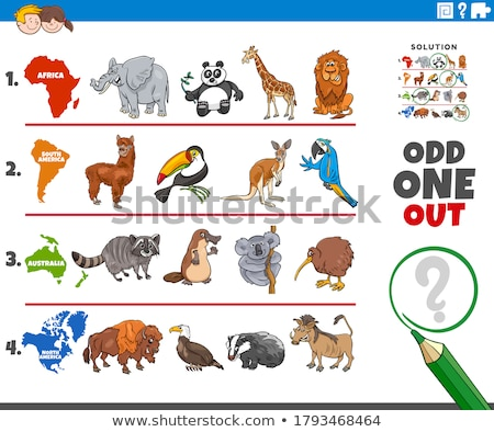 odd one out picture game with animal species Stock photo © izakowski