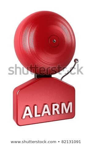 alarm bell over white stock photo © creisinger
