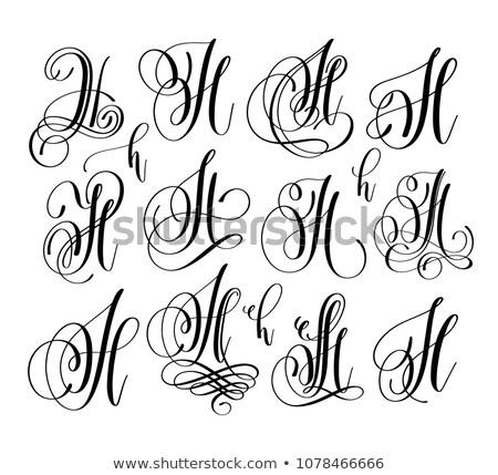 Letter of the alphabet H Stock photo © RuslanOmega