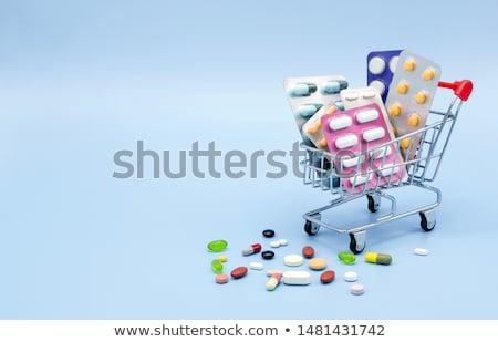 drogas · carrinho · de · compras · criador · medicina · saúde · pílulas - foto stock © vichie81