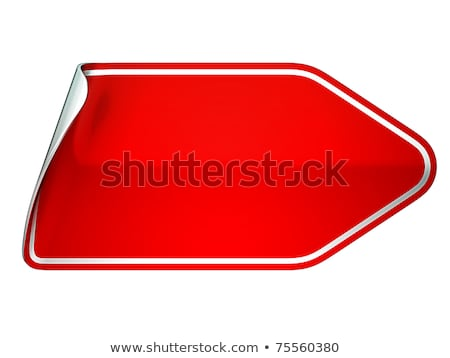 Red Unstick Bent Sticker Or Label Stok fotoğraf © Arsgera