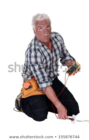 technician who took an electrical shock stock photo © photography33