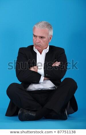 駄目 · 高齢者 · ビジネスマン · うつ病 · 座って - ストックフォト © photography33
