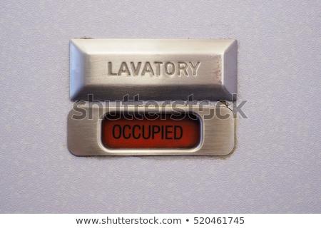 Kifejezéstelen zár illusztráció piros wc ajtó Stock fotó © 72soul