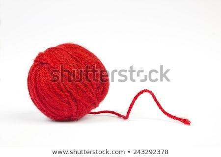 top · iplik · tığ · işi · turuncu · yeşil · kumaş - stok fotoğraf © theprophet