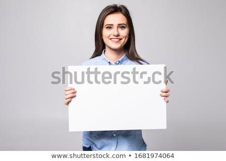 atractivo · casual · mujer · anunciante - foto stock © shawnhempel