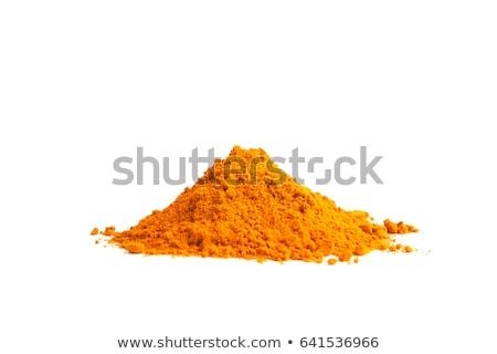Pile of Turmeric Powder Stock photo © ziprashantzi