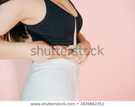 Primer plano esbelto mujer cintura naturales Foto stock © dash