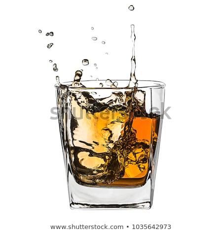 влажный стекла виски кристалл пить бутылку Сток-фото © Grazvydas