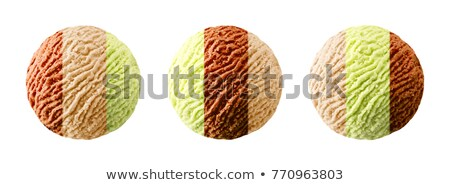 tricolor · icecream · photos · trois · différent · chocolat - photo stock © stootsy