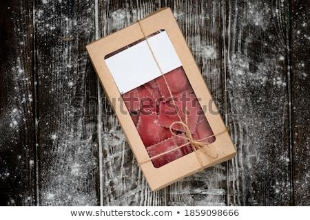 Fresco ravioli fundo carne cozinhar Foto stock © M-studio