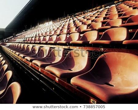 Pusty stadion krzesła sportu dziedzinie baseball Zdjęcia stock © kawing921