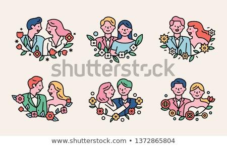 Mariage couleur verre ange boîte Photo stock © Filata