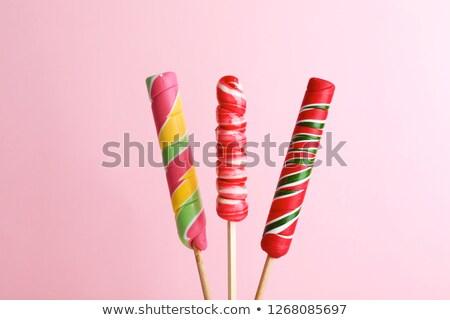Colorful twisted candy sweet lolipop  Stock photo © lunamarina