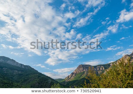 green landscape over cliff and blue sky stock photo © zzve