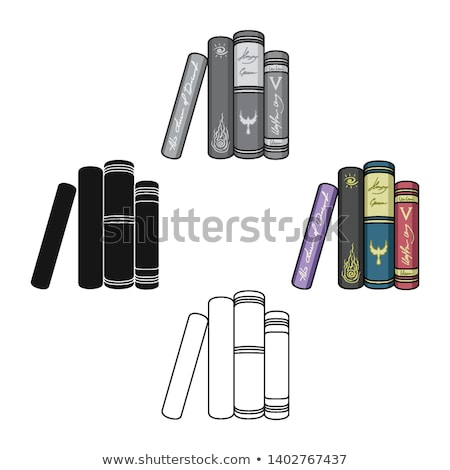 vector icon stand and book stock photo © zzve