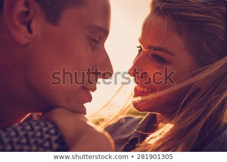 fabelachtig · romantische · pose · glimlachend · paar - stockfoto © get4net