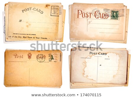 four stacks of blank vintage postcards stock photo © 3mc