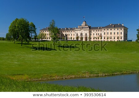 Buitenshuis congres paleis boom Blauw Stockfoto © alexandre_zveiger