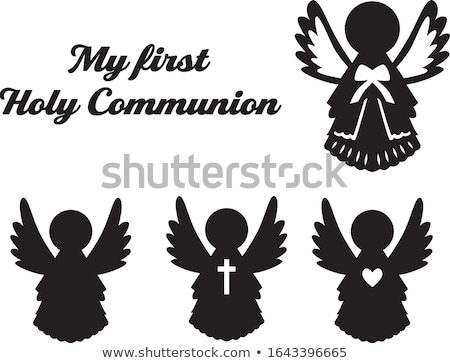 First Holy Communion silhouette Stock photo © BigKnell