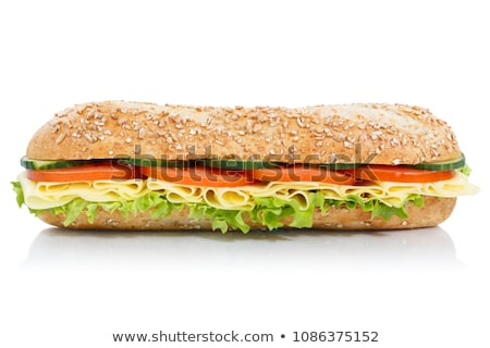 sandwich isolated on white stock photo © shutswis