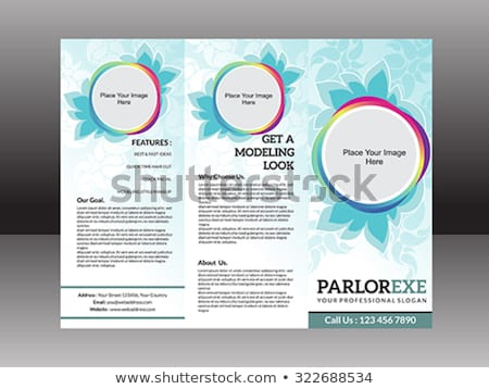 abstract artistic parlor tri fold brochure  Stock photo © pathakdesigner